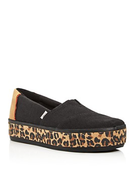 TOMS - Women's Alpargata Boardwalk Slip-On Platform Flats
