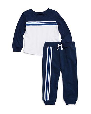 Splendid - Boys' Striped Taping Tee & Jogger Pants Set - Baby
