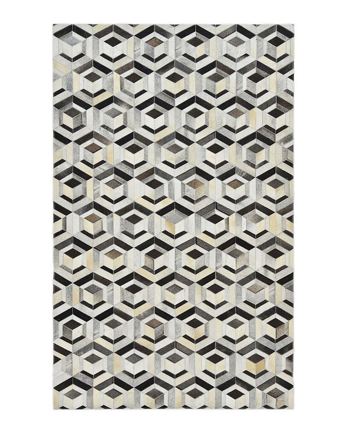 Timeless Rug Designs - Luca Cowhide S3081 Area Rug, 8' x 10' - 100% Exclusive