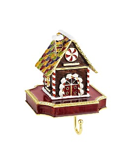 Olivia Riegel - Gingerbread House Pewter Stocking Holder