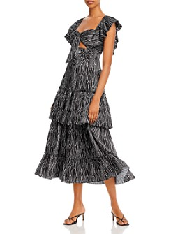 Cinq à Sept - Valerie Tiered Ruffle Gown
