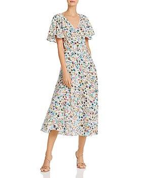 MILLY - Wildflower Silk Birdie Dress