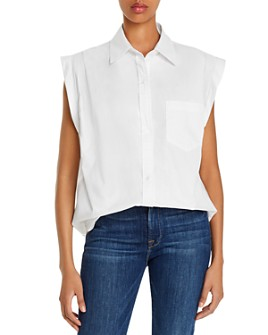 7 For All Mankind - Cotton Sleeveless Shirt