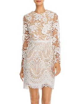 ML Monique Lhuillier - Calypso Floral Lace Dress