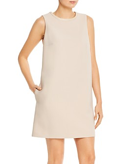 PAULE KA - Sleeveless Twill Shift Dress