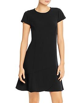 PAULE KA - Flounced Crepe Satin Mini Dress