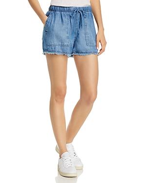 Frayed Drawstring Shorts