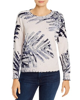 NIC and ZOE - Cotton Botanical-Print Sweater