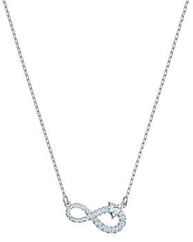 "Swarovski - Infinity Pavé-Detail Pendant Necklace, 14.88"""