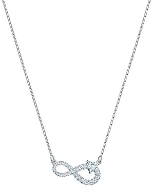 Swarovski Infinity Pave Detail Pendant Necklace 14.88