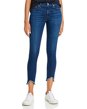 7 For All Mankind - Frayed Skinny Ankle Jeans in Fletcher Drive
