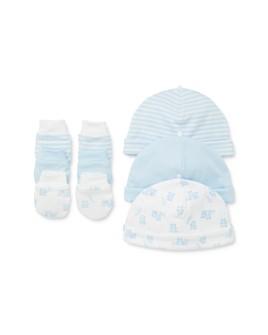 Little Me - Boys' Bear Mittens & Hat Set, 6 Piece - Baby