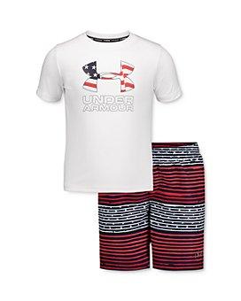 Under Armour - Boys' Freedom Striped Tee & Shorts Set - Little Kid