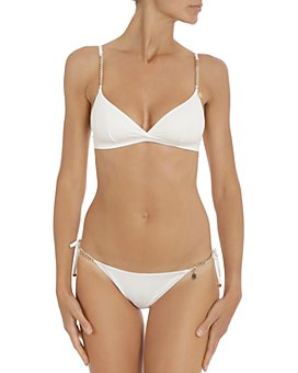 Stella McCartney - Triangle Bikini Top & Side Tie Bikini Bottom