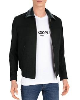 The Kooples - Redding Leather-Trimmed Bomber Jacket