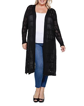 Belldini Plus - Pointelle Duster Cardigan
