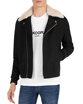 The Kooples - Redding Shearling-Collar Bomber Jacket
