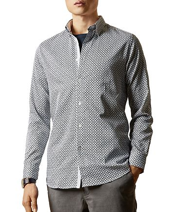 Ted Baker - HEDOES Geo Print Slim Fit Button-Down Shirt
