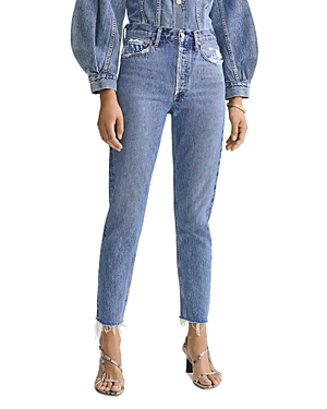 Agolde Jamie High Rise Classic Jeans in Livestream-Women