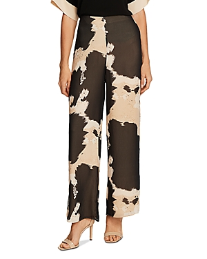 Vince Camuto Abstract Cow Print Wide-Leg Pants-Women