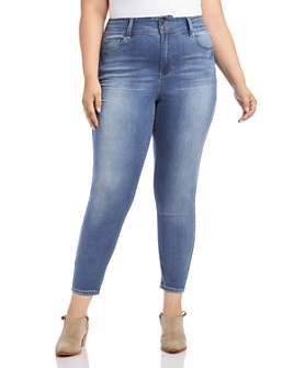 Karen Kane Plus - Skinny Ankle Jeans in Light Blue
