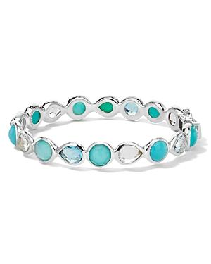 Ippolita Sterling Silver Rock Candy Multi-Gemstone Hinged Bangle Bracelet