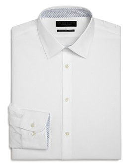 The Men's Store at Bloomingdale's - Cotton Solid Regular-Fit Dress Shirt - 100% Exclusive