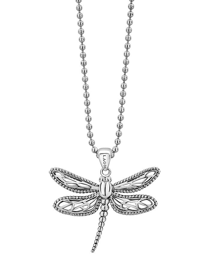 LAGOS - Sterling Silver Rare Wonders Dragonfly Pendant Necklace, 34""