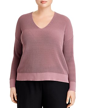 Eileen Fisher Plus - V-Neck Sweater