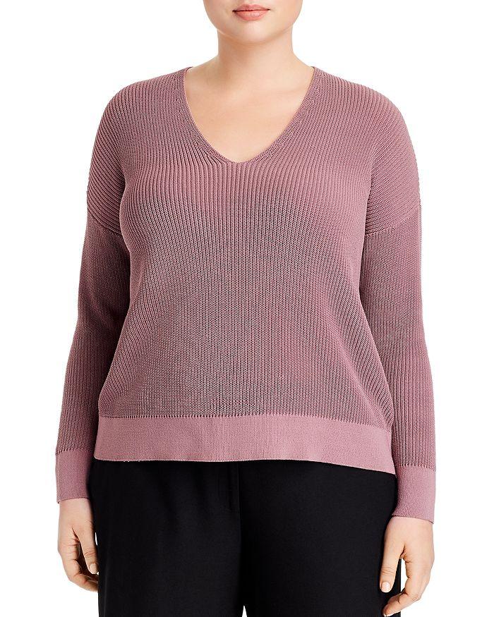 Eileen Fisher Plus - V-Neck Sweater