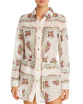 Tory Burch - Brigitte Shirt Dress Swim Cover-Up