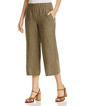 Eileen Fisher - Organic Linen Cropped Pull-On Pants