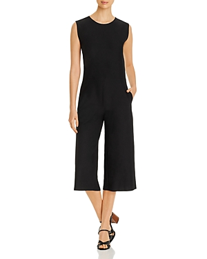 Eileen Fisher Sleeveless Cropped Jumpsuit-Women