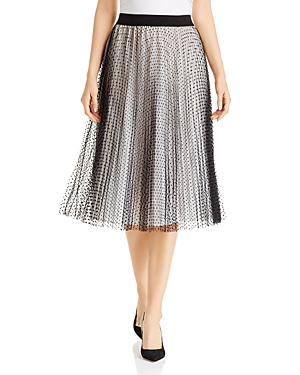 Escada Sport Dotted & Pleated Skirt