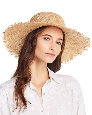 Lack of Color Aruba Frayed Straw Boater Hat