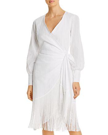 Andamane - Carly Fringe-Trim Wrap Dress