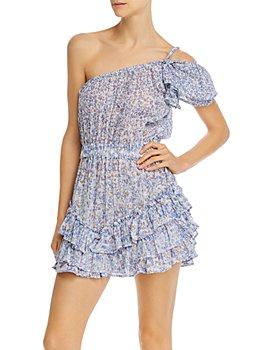 Poupette St. Barth - One-Shoulder Floral-Print Mini Dress