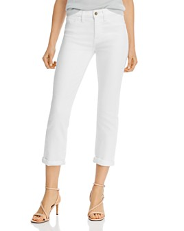 7 For All Mankind - Straight-Leg Ankle Jeans in White