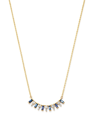 Bloomingdale's 14K Yellow Gold & Diamond & Sapphire Necklace, 16 - 100% Exclusive