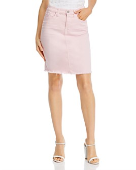 7 For All Mankind - Frayed-Hem Pencil Skirt