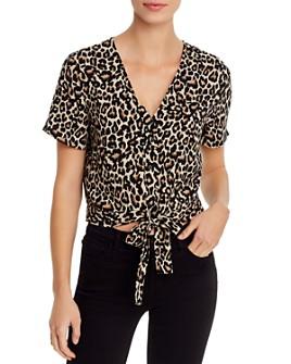 Vero Moda - Leopard-Print Tie-Front Top