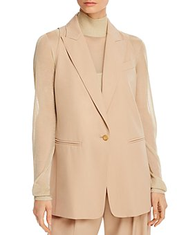 Max Mara - Janzir Sleeveless Blazer-Style Virgin Wool Vest
