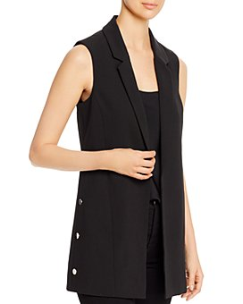 T Tahari - Long Open Blazer Vest