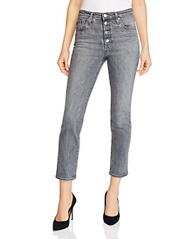 AG - Isabelle High-Rise Ankle Straight Jeans in Entity