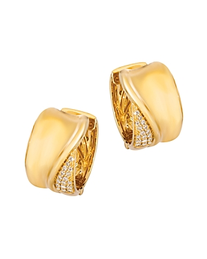 Bloomingdale's Champagne Diamond Statement Hoop Earrings in 14K Yellow Gold, 0.34 ct. t.w. - 100% Ex