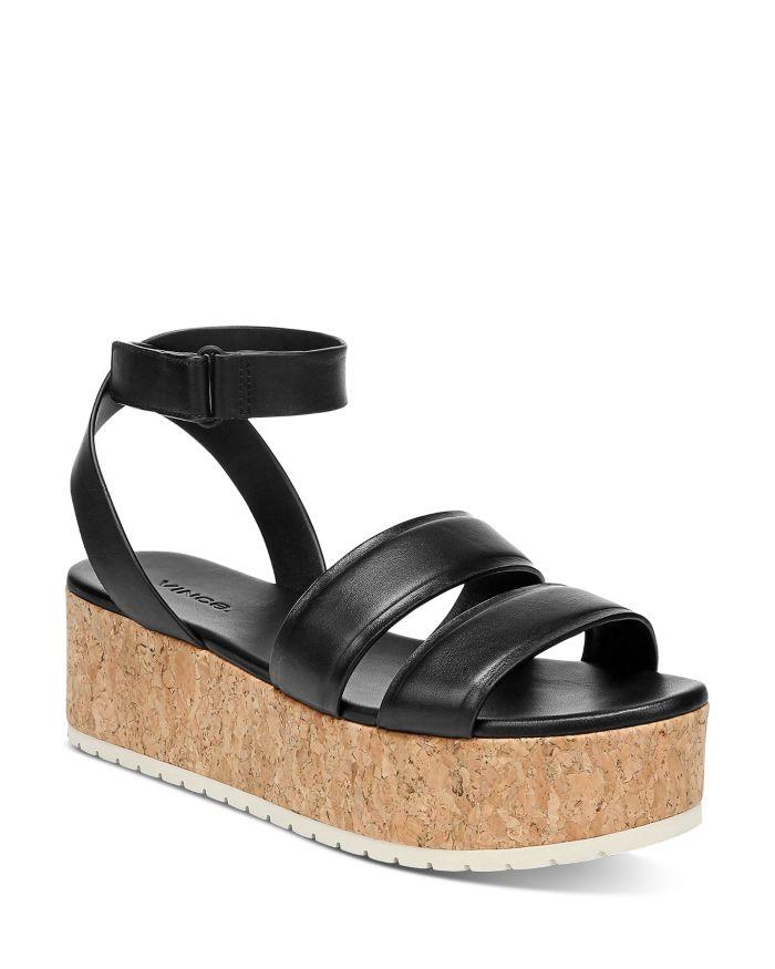 Vince Women's Jet Cork Platform Sandals    Bloomingdale's