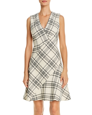 Tailored Rebecca TaylorPlaid Bias-Cut Dress-Women
