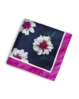 Ted Baker - Silk Floral-Print Pocket Square