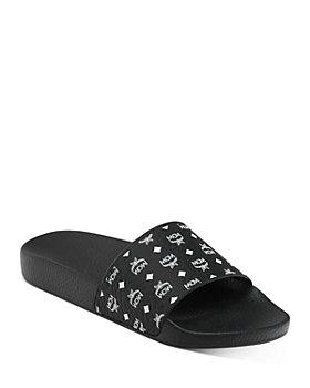 MCM - Women's Monogram Logo Print Slide Sandals