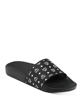 MCM - Women's Logo Slide Sandals